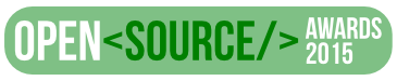Open Source Awards 2015 logo