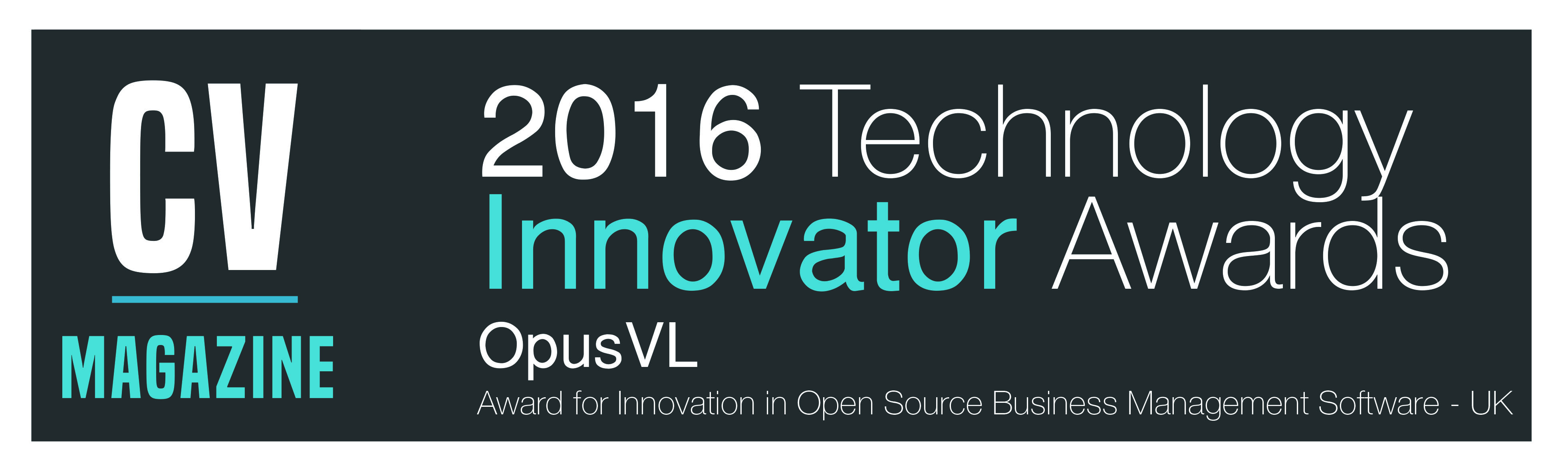 Corporate Vision Technology Innovator of the year award: OpusVL